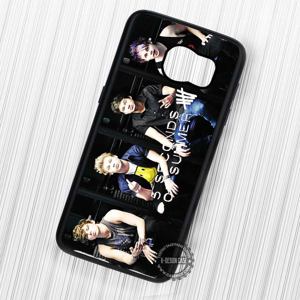 5 Seconds Of Summer - Samsung Galaxy S7 S6 S5 Note 4 Cases & Covers - Kawung Design  - 1
