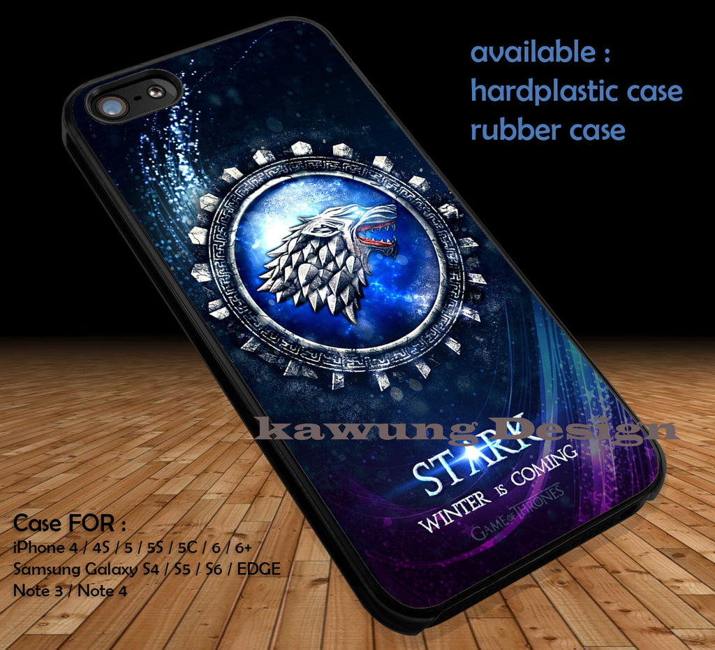 Game of Thrones  Stark  DOP1104 case/cover for iPhone 4/4s/5/5c/6/6+/6s/6s+ Samsung Galaxy S4/S5/S6/Edge/Edge+ NOTE 3/4/5 #movie #gameofthrones - Kawung Design  - 1