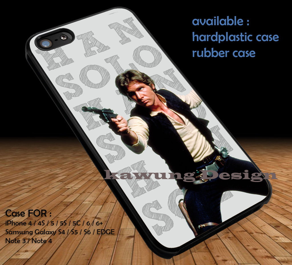 Han Solo Star Wars iPhone 7 7+ 6s 6 Cases Samsung Galaxy S8 S7 edge S6 S5 NOTE 5 4