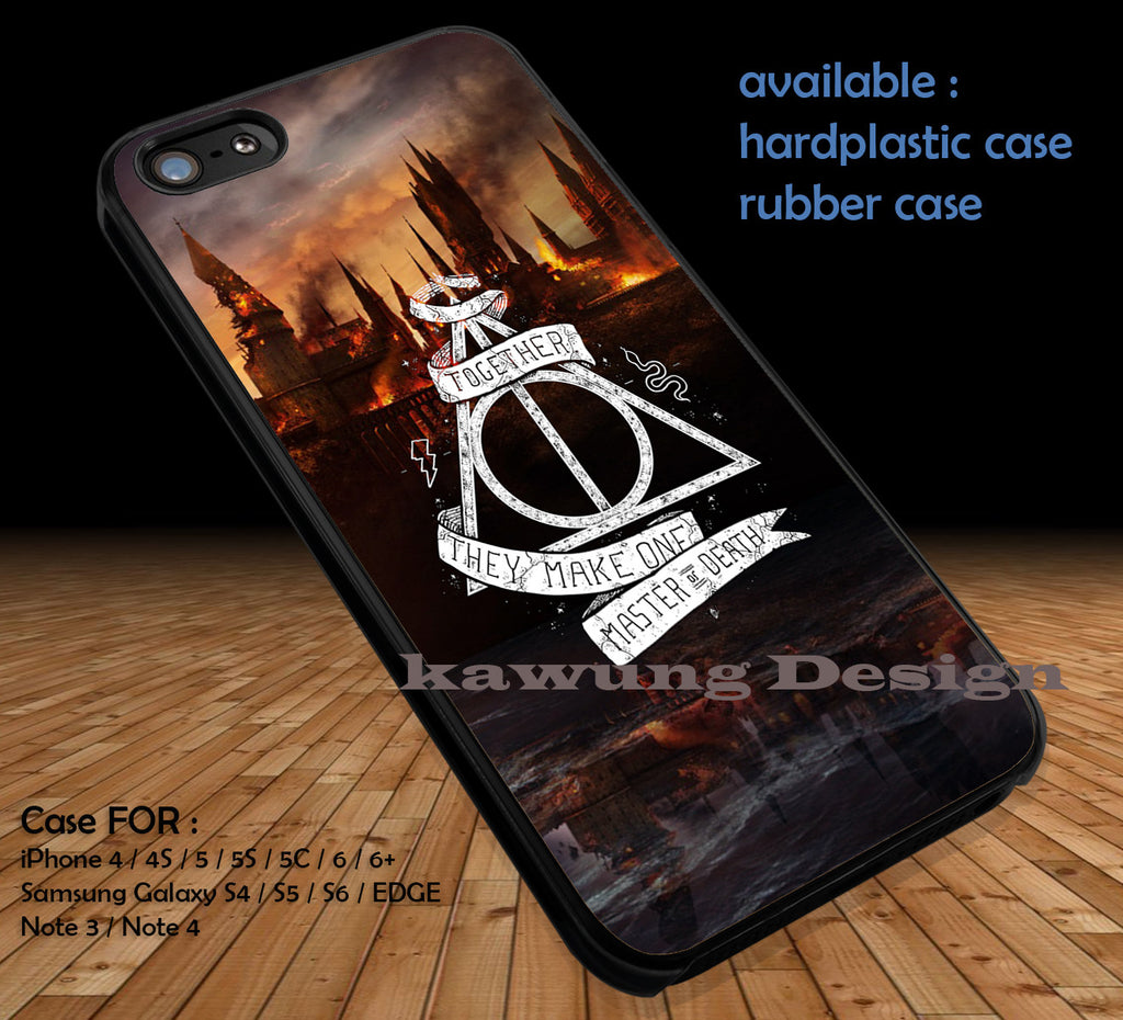 Harry Potter Deathly Hallows DOP1108 case/cover for iPhone 4/4s/5/5c/6/6+/6s/6s+ Samsung Galaxy S4/S5/S6/Edge/Edge+ NOTE 3/4/5 #movie #harrypotter - Kawung Design  - 1