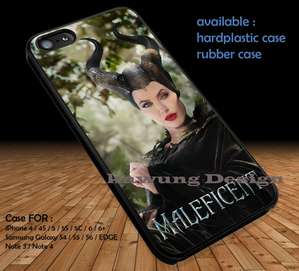 Angelina Jolie Maleficent DOP1117 case/cover for iPhone 4/4s/5/5c/6/6+/6s/6s+ Samsung Galaxy S4/S5/S6/Edge/Edge+ NOTE 3/4/5 #movie #Maleficent - Kawung Design  - 1