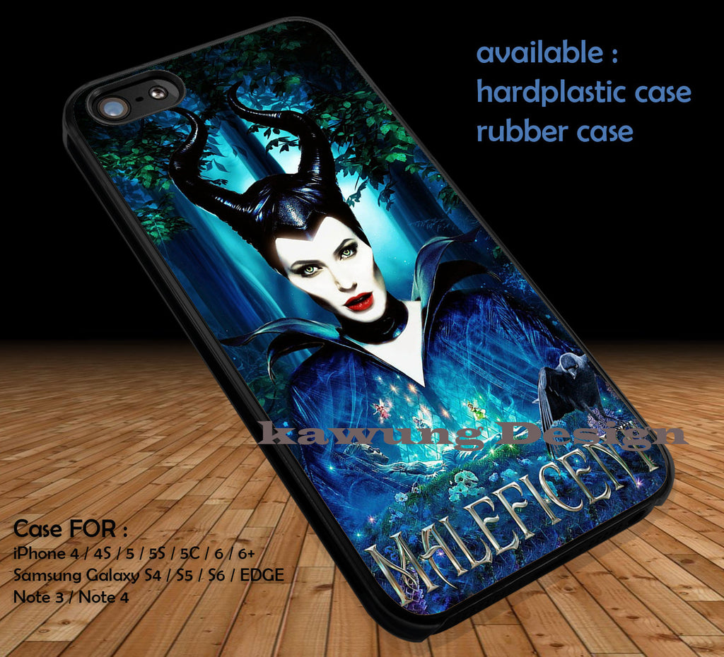 Maleficent Poster DOP1118 case/cover for iPhone 4/4s/5/5c/6/6+/6s/6s+ Samsung Galaxy S4/S5/S6/Edge/Edge+ NOTE 3/4/5 #movie #Maleficent - Kawung Design  - 1