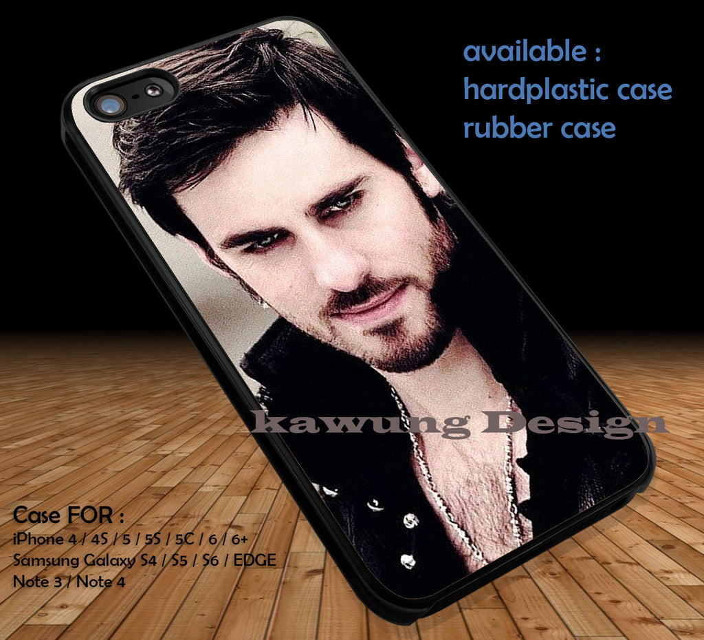 Colin O'Donoghue Captain Hook Once Upon A Time DOP1119 case/cover for iPhone 4/4s/5/5c/6/6+/6s/6s+ Samsung Galaxy S4/S5/S6/Edge/Edge+ NOTE 3/4/5 #cartoon #disney #animated #onceuponatime #movie - Kawung Design  - 1