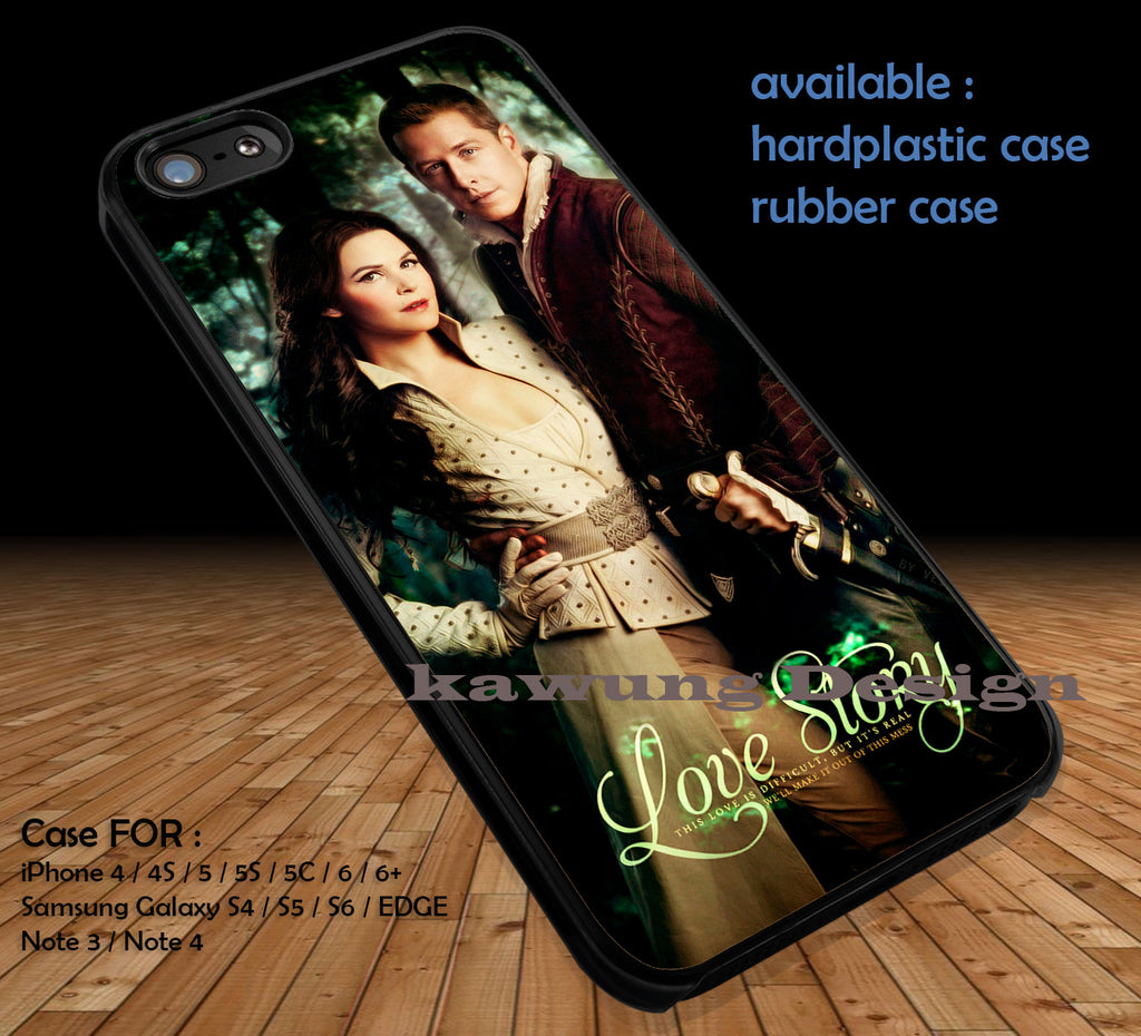 Prince Charming and Snow White Once Upon A Time DOP1120 case/cover for iPhone 4/4s/5/5c/6/6+/6s/6s+ Samsung Galaxy S4/S5/S6/Edge/Edge+ NOTE 3/4/5 #cartoon #disney #animated #onceuponatime #movie - Kawung Design  - 1
