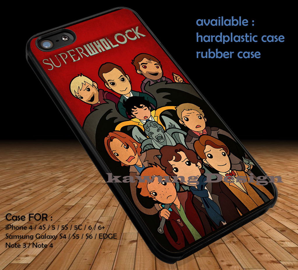 SuperWhoLock Poster DOP1135 case/cover for iPhone 4/4s/5/5c/6/6+/6s/6s+ Samsung Galaxy S4/S5/S6/Edge/Edge+ NOTE 3/4/5 #movie #cartoon #superwholock #supernatural #doctorwho #sherlockholmes - Kawung Design  - 1