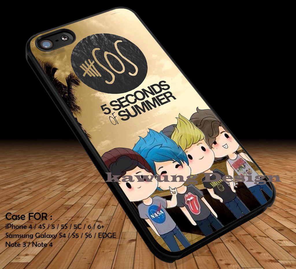 5 Seconds of Summer Cute Chibi iPhone 8+ 7 6s Cases Samsung Galaxy S8 S7 edge NOTE 8 5 4