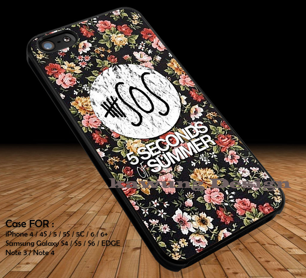 5 Seconds of Summer on Floral iPhone 7 7+ 6s 6 Cases Samsung Galaxy S8 S7 edge S6 S5 NOTE 5 4