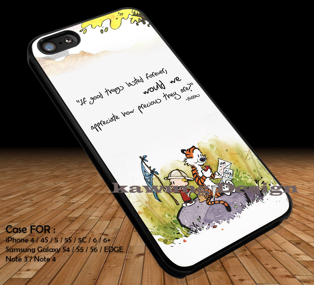 Calvin and Hobbes Cartoon Quote DOP116 iPhone 6s 6 6s+ 5c 5s Cases Samsung Galaxy s5 s6 Edge+ NOTE 5 4 3 #cartoon #anime #calvinandhobbes - Kawung Design  - 1