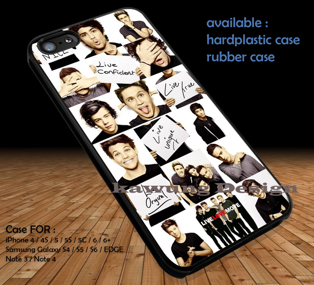 One Direction 1D DOP1206 case/cover for iPhone 4/4s/5/5c/6/6+/6s/6s+ Samsung Galaxy S4/S5/S6/Edge/Edge+ NOTE 3/4/5 #music #1d - Kawung Design  - 1