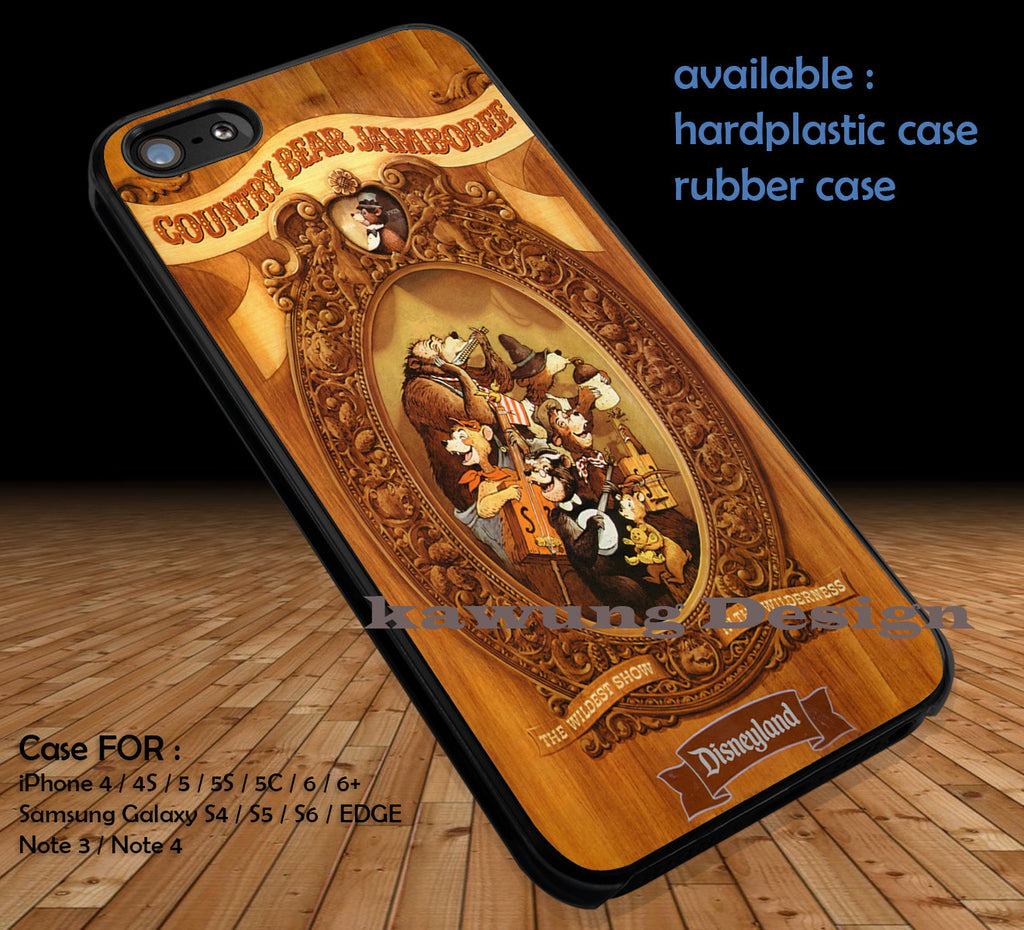 Country Bear Jamboree Vintage Poster DOP121 iPhone 6s 6 6s+ 5c 5s Cases Samsung Galaxy s5 s6 Edge+ NOTE 5 4 3 #cartoon #disney #animated #disneycastle - Kawung Design  - 1