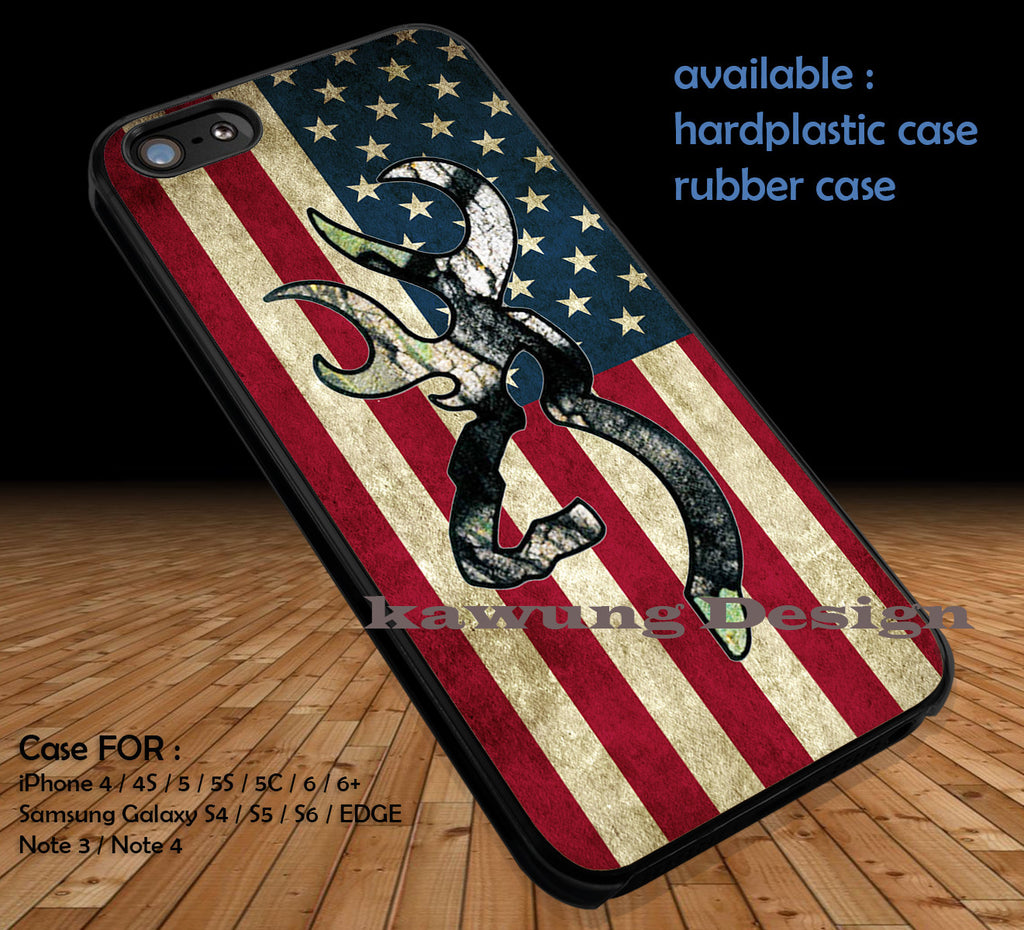 Camo Browning American Flag iPhone 8+ 7 6s Cases Samsung Galaxy S8 S7 edge NOTE 8 5 4