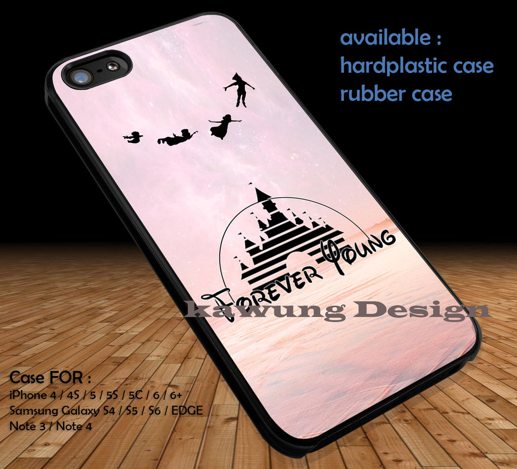 Peter Pan Forever Young DOP124 case/cover for iPhone 4/4s/5/5c/6/6+/6s/6s+ Samsung Galaxy S4/S5/S6/Edge/Edge+ NOTE 3/4/5 #cartoon #disney #animated #peterpan #movie - Kawung Design  - 1