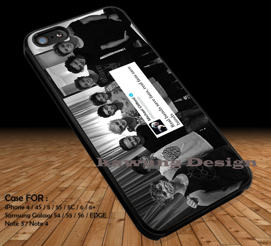 One Direction and 5 Seconds of Summer Quote DOP1277 case/cover for iPhone 4/4s/5/5c/6/6+/6s/6s+ Samsung Galaxy S4/S5/S6/Edge/Edge+ NOTE 3/4/5 #music #5sos #1d - Kawung Design  - 1