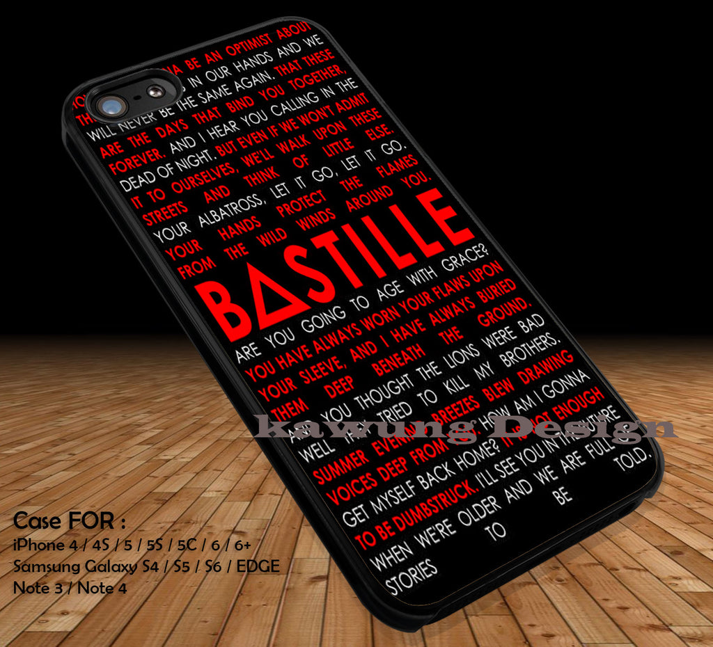 Bastille Lyrics Quotes DOP1282 iPhone 6s 6 6s+ 5c 5s Cases Samsung Galaxy s5 s6 Edge+ NOTE 5 4 3 #quote - Kawung Design  - 1