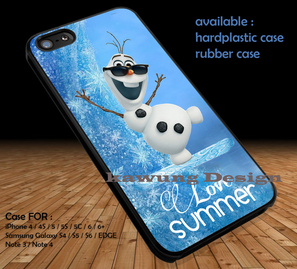 Frozen Olaf DOP128 case/cover for iPhone 4/4s/5/5c/6/6+/6s/6s+ Samsung Galaxy S4/S5/S6/Edge/Edge+ NOTE 3/4/5 #cartoon #disney #animated - Kawung Design  - 1