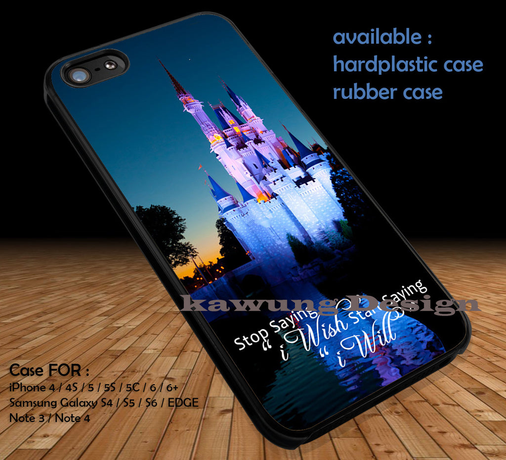 Cinderella Castle Disneyworld Reflection DOP1290 iPhone 6s 6 6s+ 5c 5s Cases Samsung Galaxy s5 s6 Edge+ NOTE 5 4 3 #quote - Kawung Design  - 1