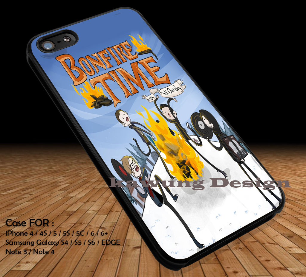 Adventure Time Bonfire Time Fall Out Boy DOP12 iPhone 6s 6 6s+ 5c 5s Cases Samsung Galaxy s5 s6 Edge+ NOTE 5 4 3 #cartoon #anime #adventuretime - Kawung Design  - 1