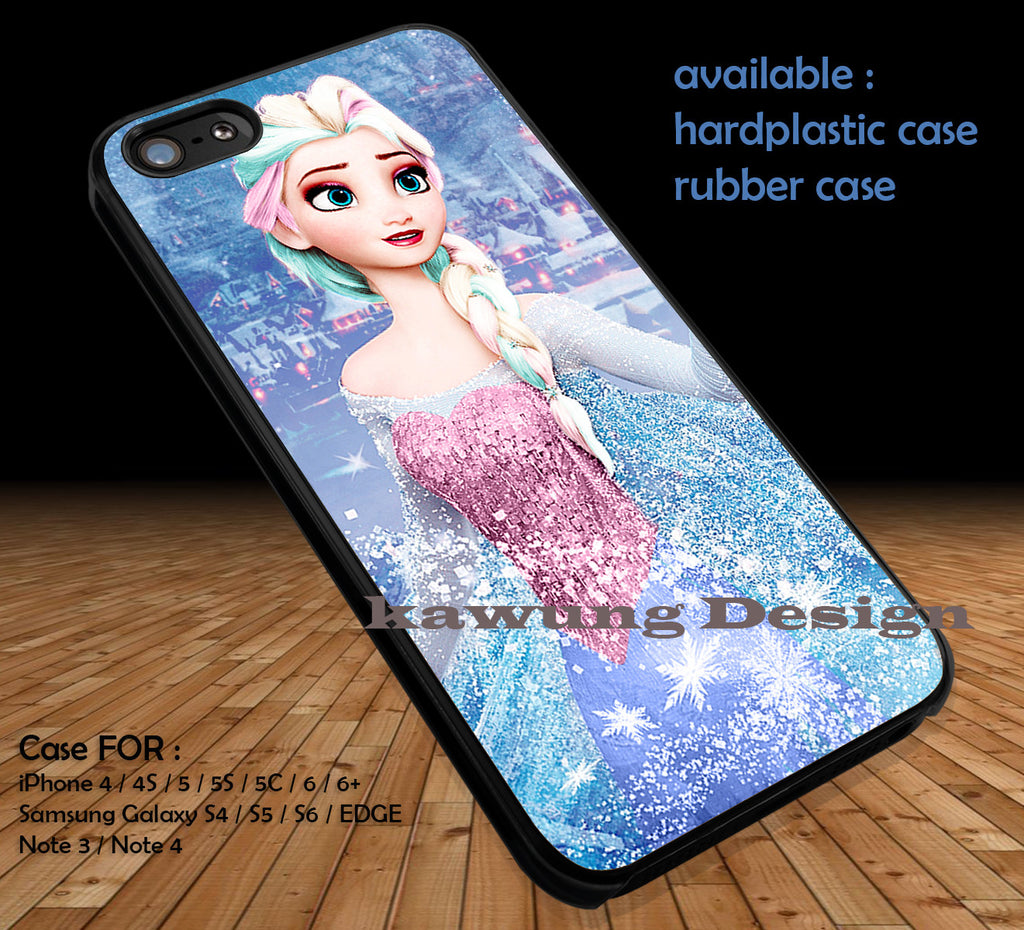 Frozen Elsa DOP130 case/cover for iPhone 4/4s/5/5c/6/6+/6s/6s+ Samsung Galaxy S4/S5/S6/Edge/Edge+ NOTE 3/4/5 #cartoon #disney #animated #frozen - Kawung Design  - 1