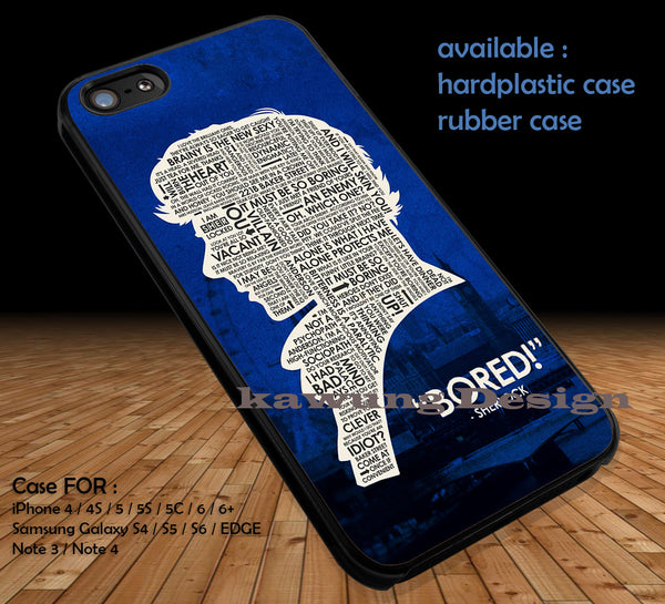 Sherlock Holmes Quote DOP1319 case/cover for iPhone 4/4s/5/5c/6/6+/6s/6s+ Samsung Galaxy S4/S5/S6/Edge/Edge+ NOTE 3/4/5 #movie #sherlock - Kawung Design  - 1