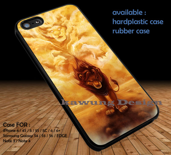 Disney Lion King Simba iPhone 6s 6 plus 5 5c 5s Cases Samsung Galaxy s5 s6 Edge+ NOTE 5 Cover #cartoon #disney #theLionKing DOP131 - Kawung Design  - 1