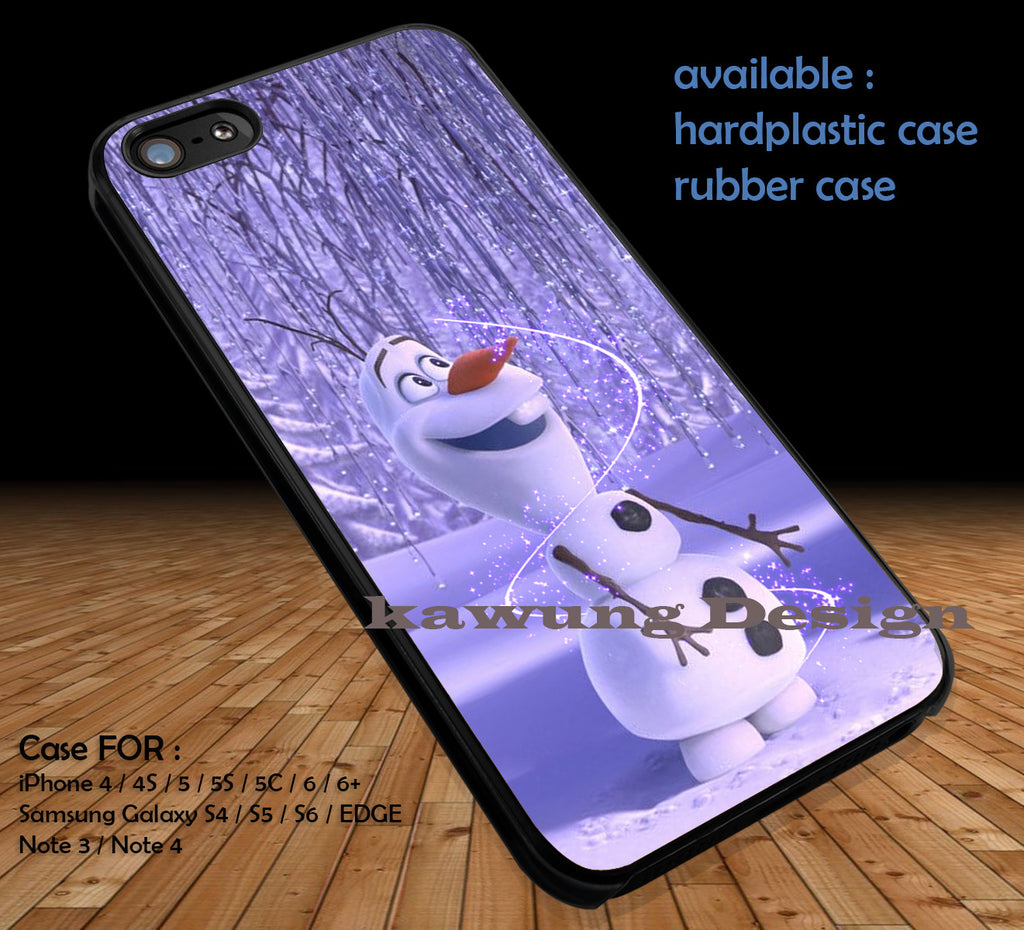 Frozen Olaf DOP133 case/cover for iPhone 4/4s/5/5c/6/6+/6s/6s+ Samsung Galaxy S4/S5/S6/Edge/Edge+ NOTE 3/4/5 #cartoon #disney #animated - Kawung Design  - 1