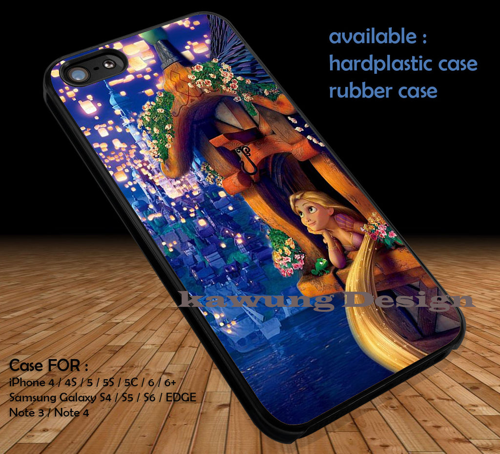 Tangled Rapunzel DOP138 case/cover for iPhone 4/4s/5/5c/6/6+/6s/6s+ Samsung Galaxy S4/S5/S6/Edge/Edge+ NOTE 3/4/5 #cartoon #anime #tangled - Kawung Design  - 1