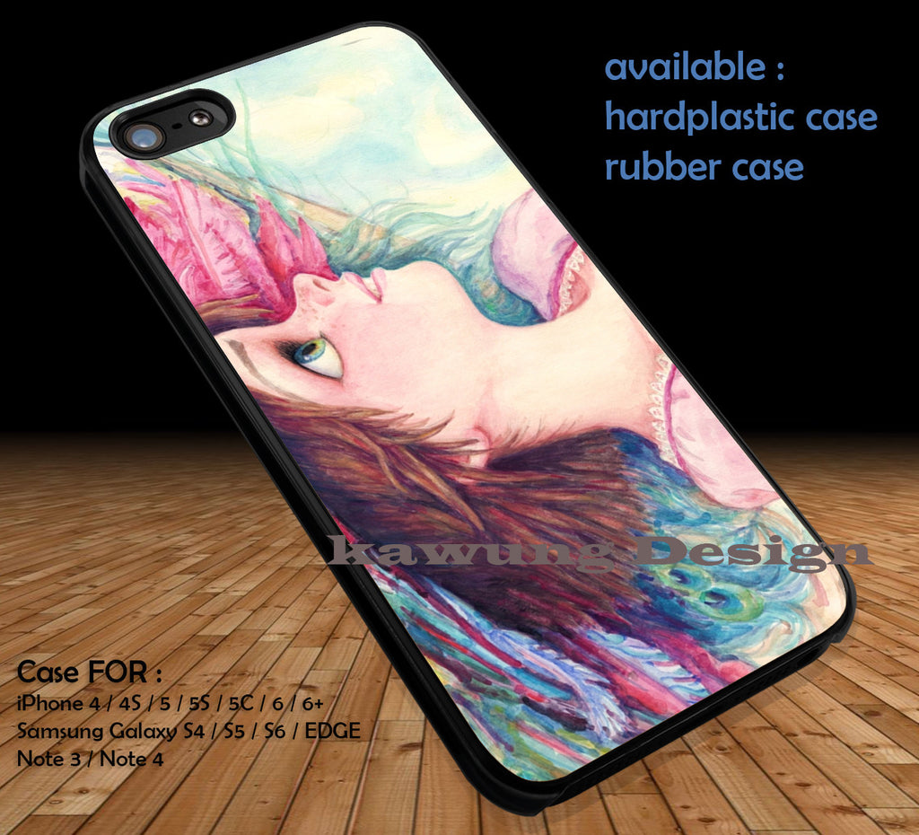 Tangled Rapunzel Watercolor DOP139 case/cover for iPhone 4/4s/5/5c/6/6+/6s/6s+ Samsung Galaxy S4/S5/S6/Edge/Edge+ NOTE 3/4/5 #cartoon #anime #tangled - Kawung Design  - 1