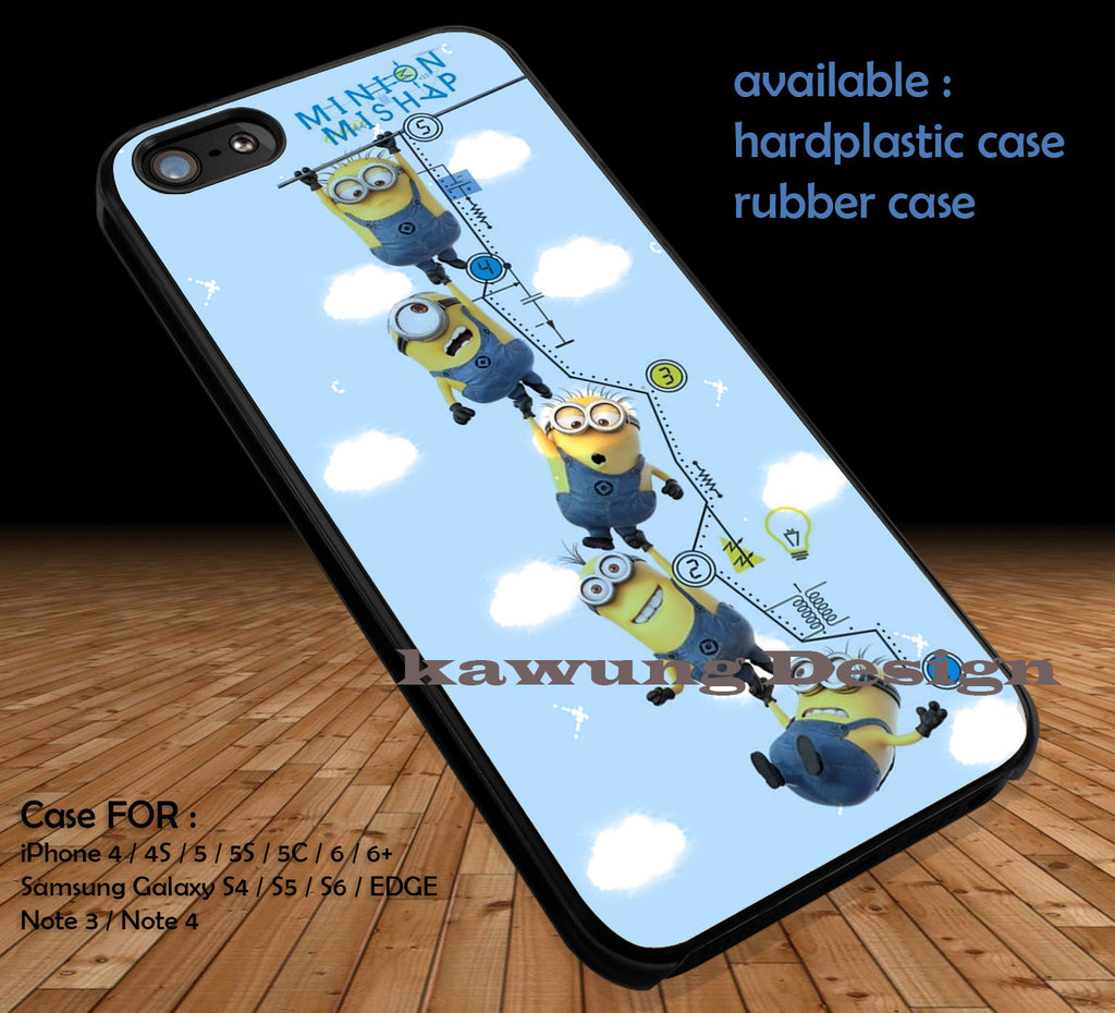 Funny Minions DOP142 case/cover for iPhone 4/4s/5/5c/6/6+/6s/6s+ Samsung Galaxy S4/S5/S6/Edge/Edge+ NOTE 3/4/5 #cartoon #disney #animated #minions - Kawung Design  - 1