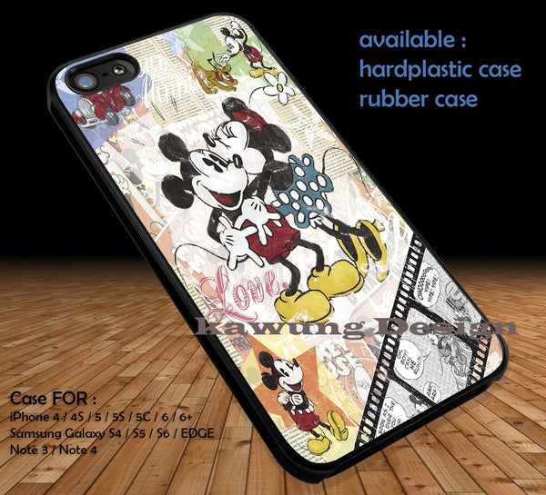 Minnie And Mickey Mouse iPhone 6s 6 6s+ 5c 5s Cases Samsung Galaxy s5 s6 Edge+ NOTE 5 #disney #MickeyMouse DOP161 - Kawung Design  - 1