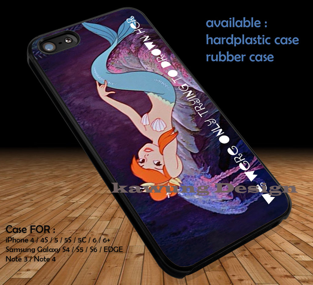 Neverland Mermaid Lagoon Drown  DOP162 case/cover for iPhone 4/4s/5/5c/6/6+/6s/6s+ Samsung Galaxy S4/S5/S6/Edge/Edge+ NOTE 3/4/5 #cartoon #disney #animated #thelittlemermaid - Kawung Design  - 1