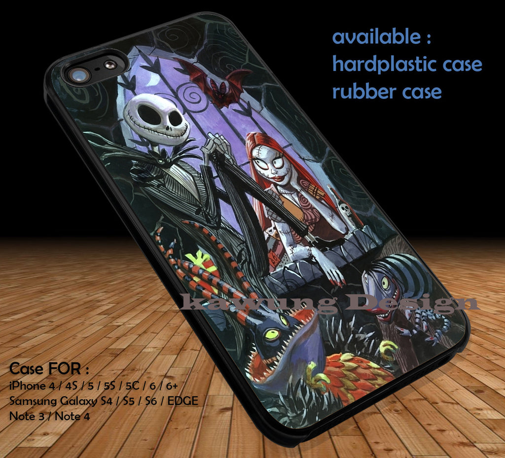 Nightmare Before Christmas DOP163 case/cover for iPhone 4/4s/5/5c/6/6+/6s/6s+ Samsung Galaxy S4/S5/S6/Edge/Edge+ NOTE 3/4/5 #cartoon #disney #animated #nightmarebeforechristmas #movie - Kawung Design  - 1