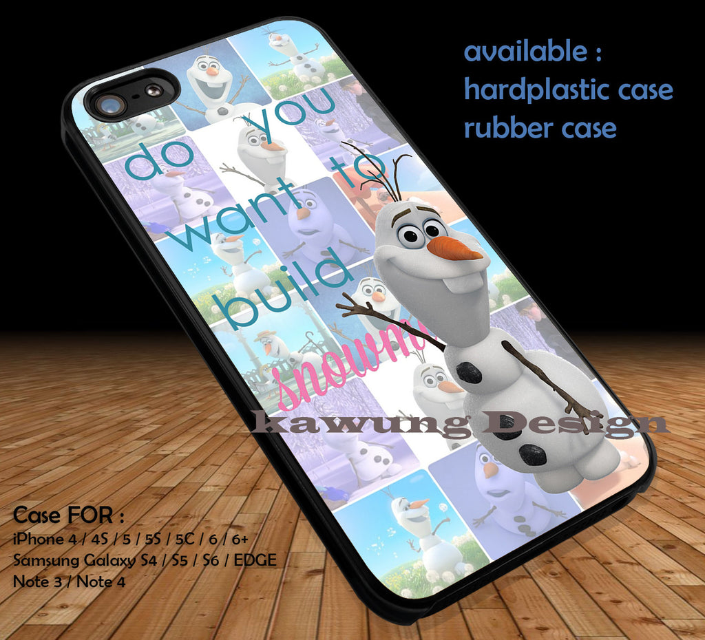 Frozen Olaf DOP164 case/cover for iPhone 4/4s/5/5c/6/6+/6s/6s+ Samsung Galaxy S4/S5/S6/Edge/Edge+ NOTE 3/4/5 #cartoon #disney #animated - Kawung Design  - 1