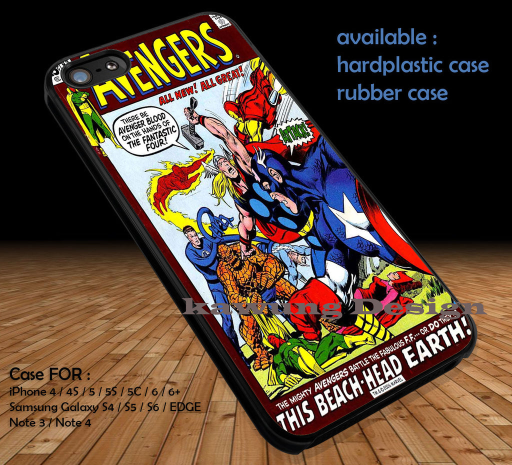 The Avenger Comic Cover DOP176 case/cover for iPhone 4/4s/5/5c/6/6+/6s/6s+ Samsung Galaxy S4/S5/S6/Edge/Edge+ NOTE 3/4/5 #cartoon #disney #animated #marvel #comic #movie - Kawung Design  - 1