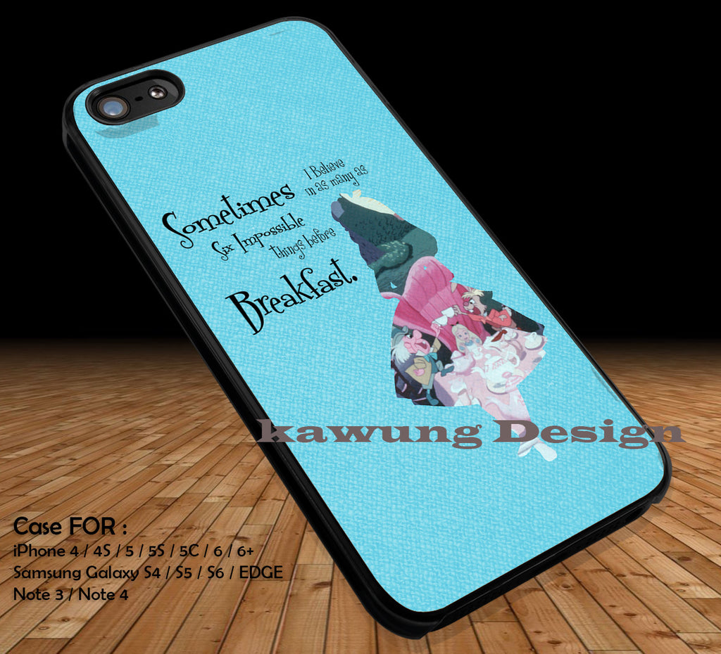 Alice in Wonderland DOP17 case/cover for iPhone 4/4s/5/5c/6/6+/6s/6s+ Samsung Galaxy S4/S5/S6/Edge/Edge+ NOTE 3/4/5 #cartoon #anime - Kawung Design  - 1