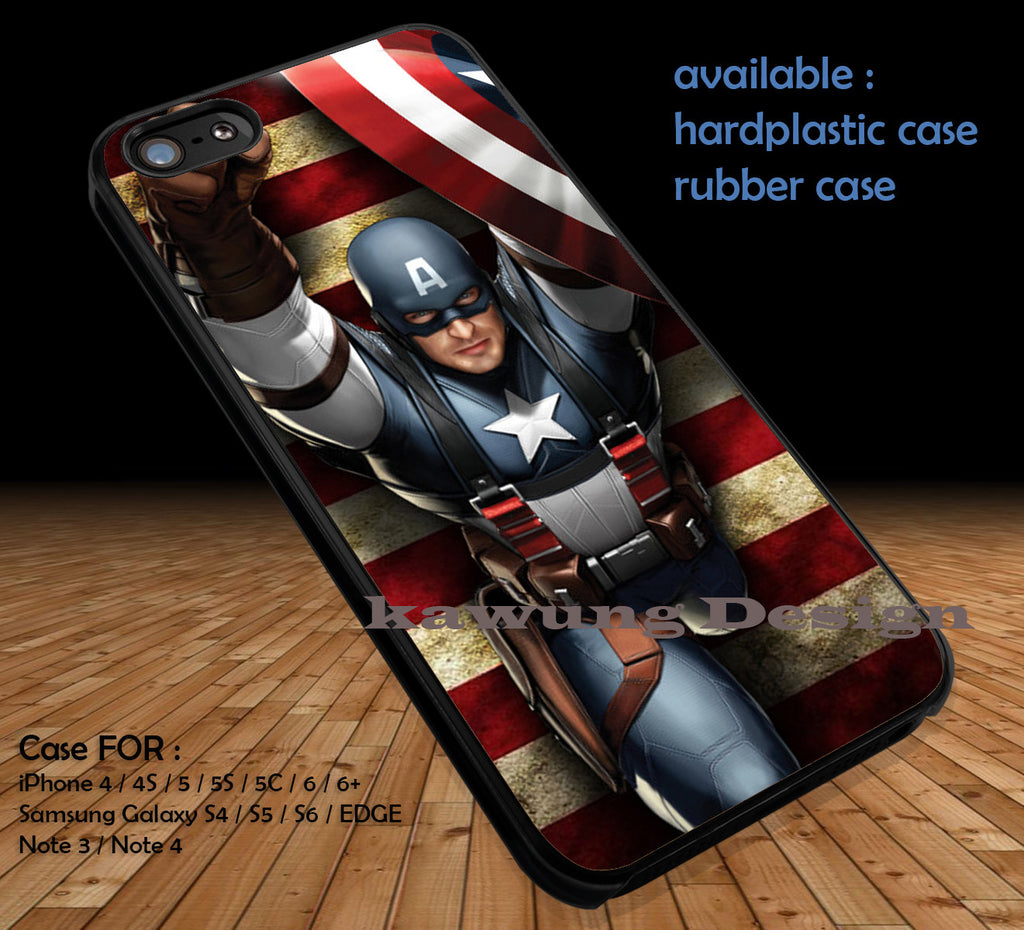 Winter Soldier Captain America Marvel DOP183 case/cover for iPhone 4/4s/5/5c/6/6+/6s/6s+ Samsung Galaxy S4/S5/S6/Edge/Edge+ NOTE 3/4/5 #cartoon #disney #animated #marvel #comic #movie - Kawung Design  - 1