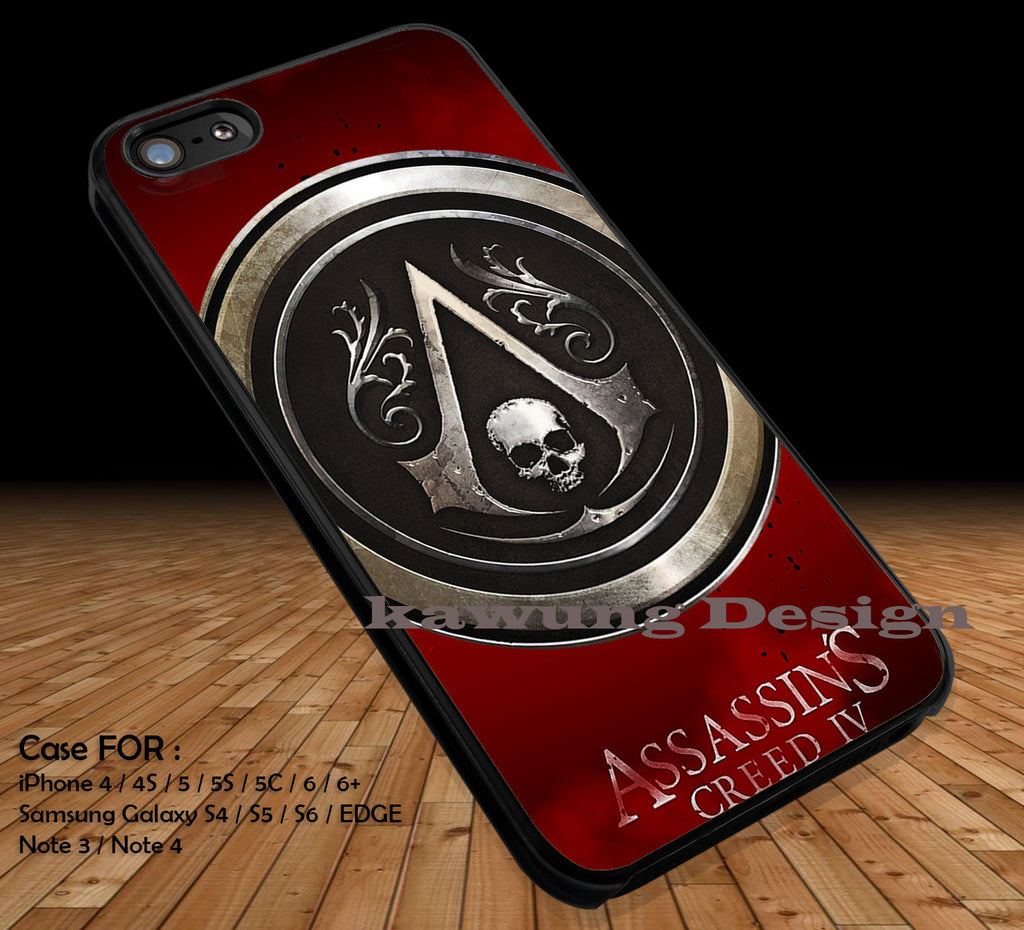Assassins Creed Black Flag Logo iPhone X 8+ 7 6s Cases Samsung Galaxy S8 S7 edge NOTE 8 5 4
