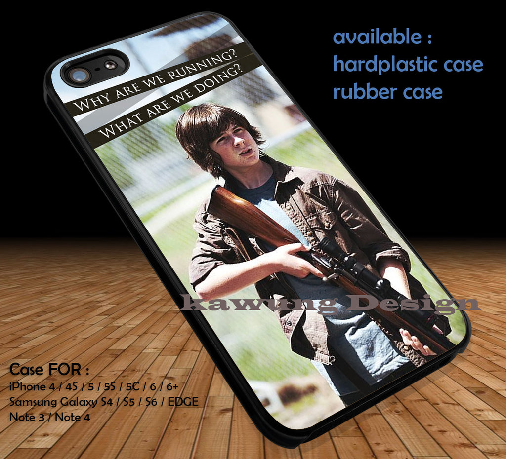 Carl Grimes The Walking Dead DOP189 case/cover for iPhone 4/4s/5/5c/6/6+/6s/6s+ Samsung Galaxy S4/S5/S6/Edge/Edge+ NOTE 3/4/5 #movie #walkingdead - Kawung Design  - 1