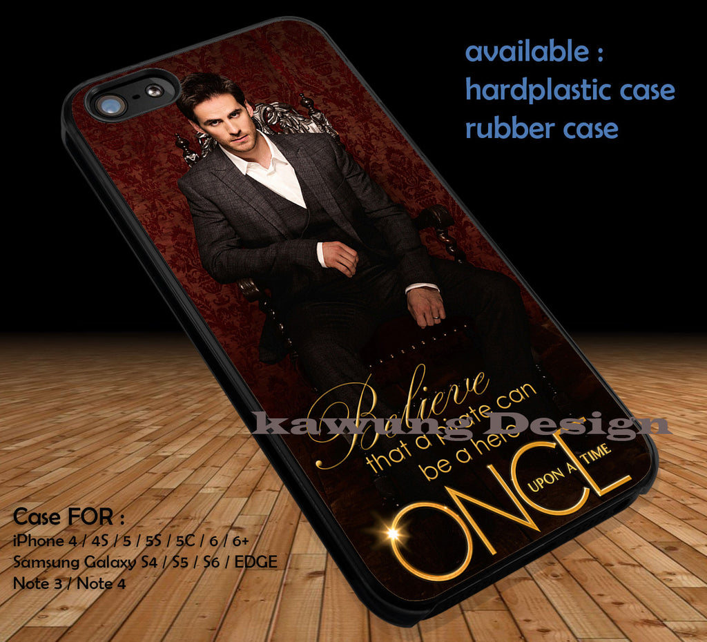 Colin O'Donoghue Captain Hook Once Upon A Time DOP192 case/cover for iPhone 4/4s/5/5c/6/6+/6s/6s+ Samsung Galaxy S4/S5/S6/Edge/Edge+ NOTE 3/4/5 #cartoon #disney #animated #oneuponatime #movie - Kawung Design  - 1