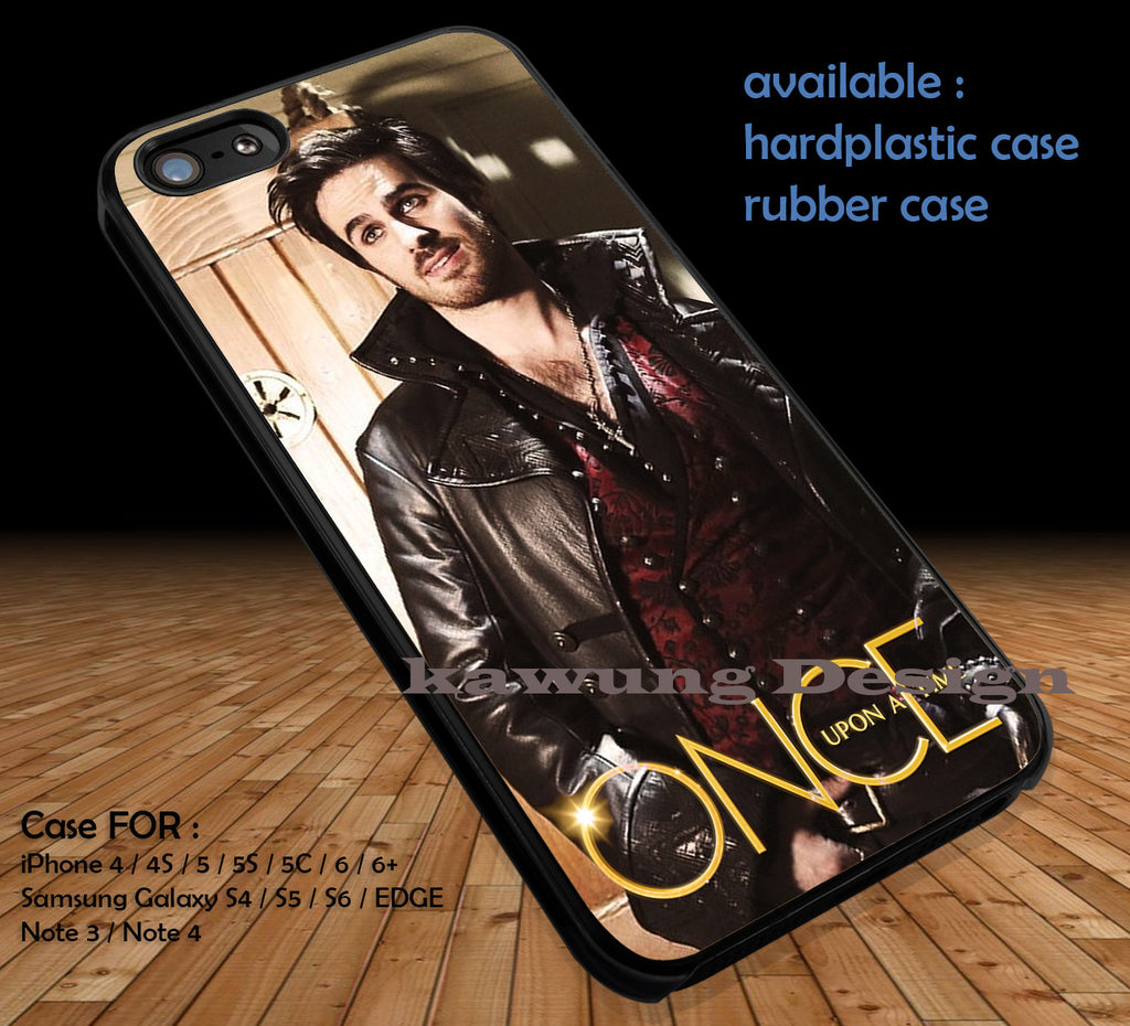 Colin O'Donoghue Captain Hook Once Upon A Time DOP193 case/cover for iPhone 4/4s/5/5c/6/6+/6s/6s+ Samsung Galaxy S4/S5/S6/Edge/Edge+ NOTE 3/4/5 #cartoon #disney #animated #oneuponatime #movie - Kawung Design  - 1