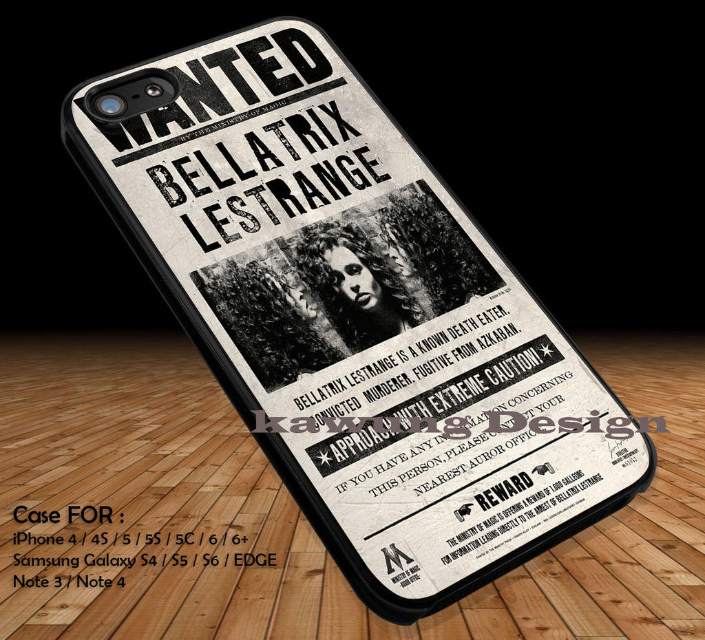 Bellatrix Lestrange Wanted Poster iPhone 6s 6 6s+ 5c 5s Cases Samsung Galaxy s5 s6 Edge+ NOTE 5 4 3 #movie #HarryPotter DOP2120 - Kawung Design  - 1