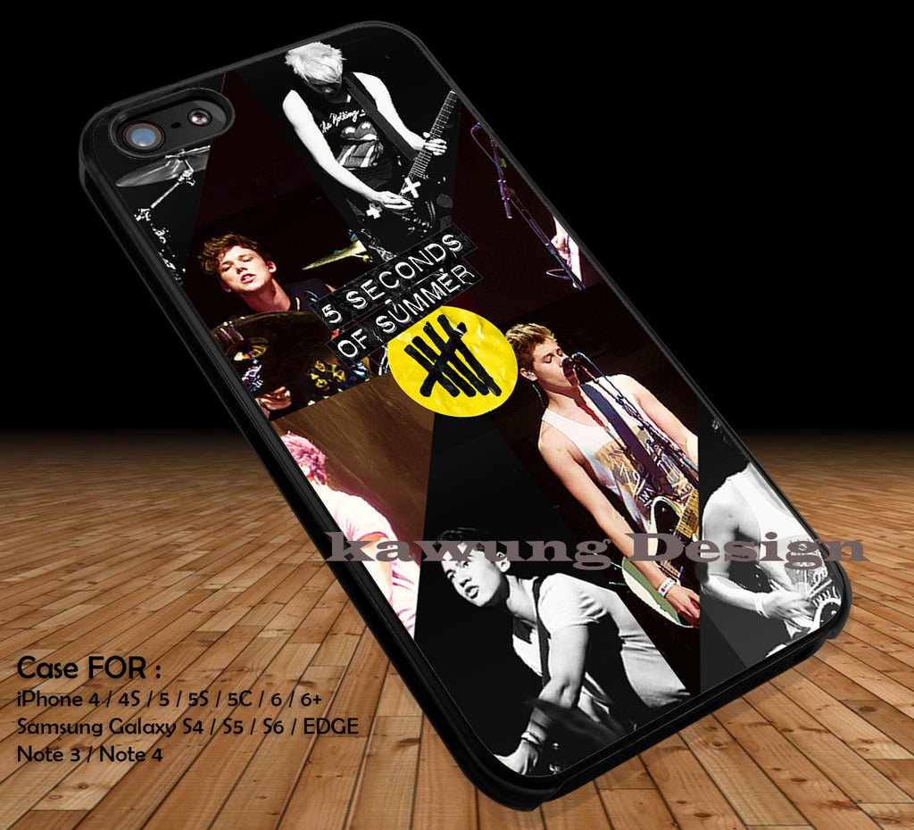 5 Seconds of Summer Collage iPhone 6s 6 6s+ 5c 5s Cases Samsung Galaxy s5 s6 Edge+ NOTE 5 4 3 #music #5sos DOP2121 - K-Designs