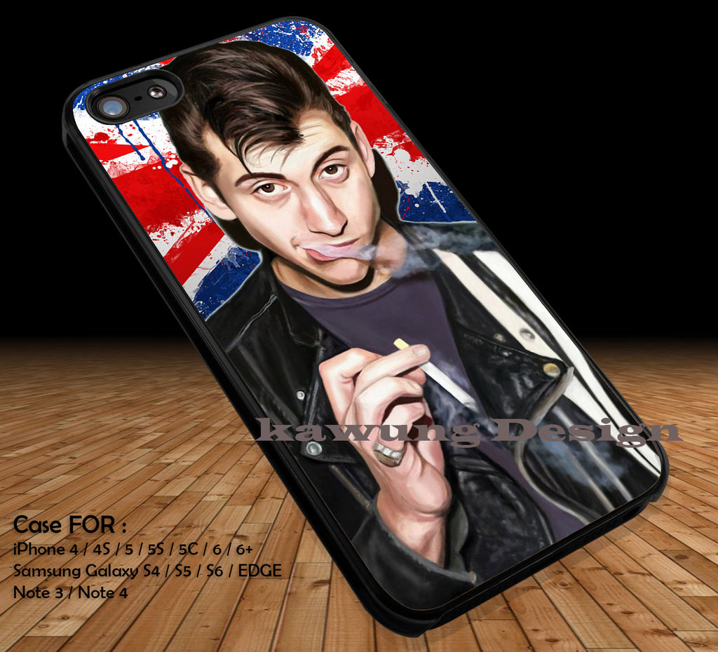 Band Alex Turner Arctic Monkeys iPhone 6s 6 6s+ 5c 5s Cases Samsung Galaxy s5 s6 Edge+ NOTE 5 4 3 #music #arc DOP2127 - Kawung Design  - 1