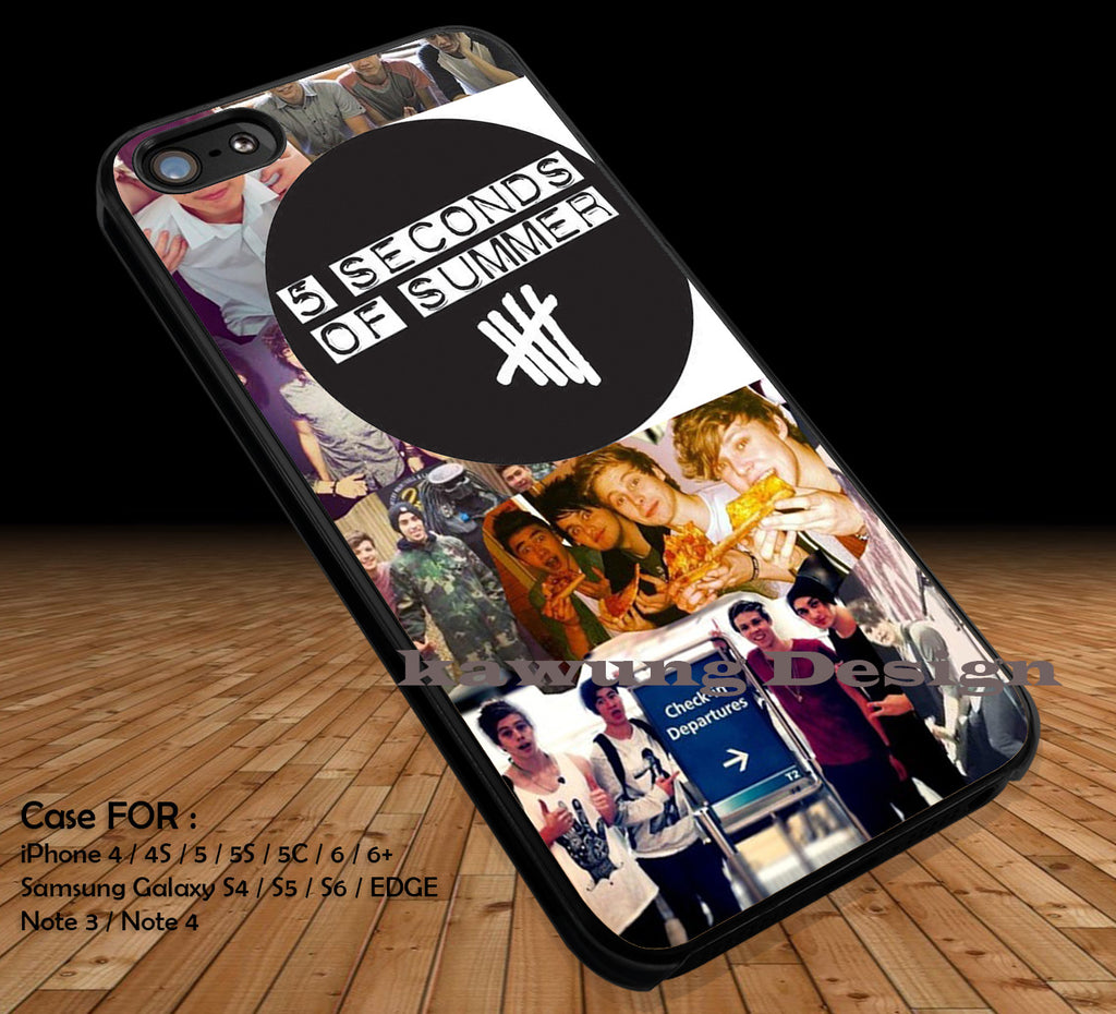 Seconds of Summer DOP2131 case/cover for iPhone 4/4s/5/5c/6/6+/6s/6s+ Samsung Galaxy S4/S5/S6/Edge/Edge+ NOTE 3/4/5 #music #5sos - Kawung Design  - 1