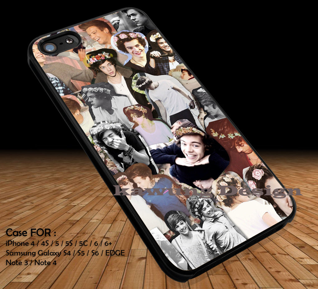 One Direction 1D DOP2160 case/cover for iPhone 4/4s/5/5c/6/6+/6s/6s+ Samsung Galaxy S4/S5/S6/Edge/Edge+ NOTE 3/4/5 #music #1d - Kawung Design  - 1