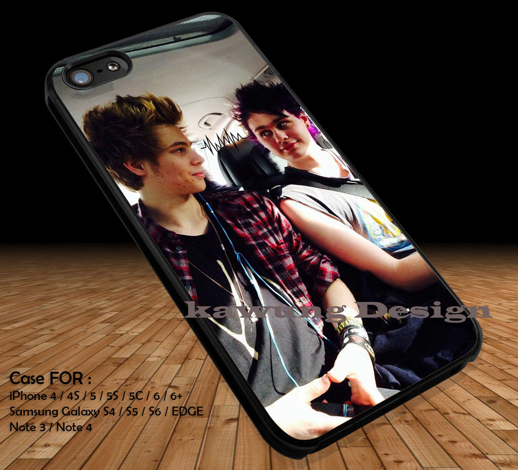 Luke Hammings and Michael Clifford 5 Seconds of Summer DOP2190 case/cover for iPhone 4/4s/5/5c/6/6+/6s/6s+ Samsung Galaxy S4/S5/S6/Edge/Edge+ NOTE 3/4/5 #music #5sos - Kawung Design  - 1