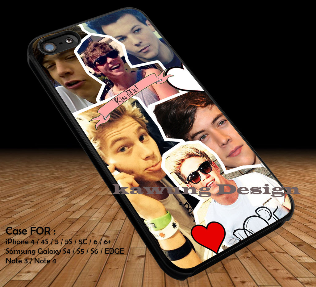 One Direction 1D DOP2191 case/cover for iPhone 4/4s/5/5c/6/6+/6s/6s+ Samsung Galaxy S4/S5/S6/Edge/Edge+ NOTE 3/4/5 #music #1d - Kawung Design  - 1