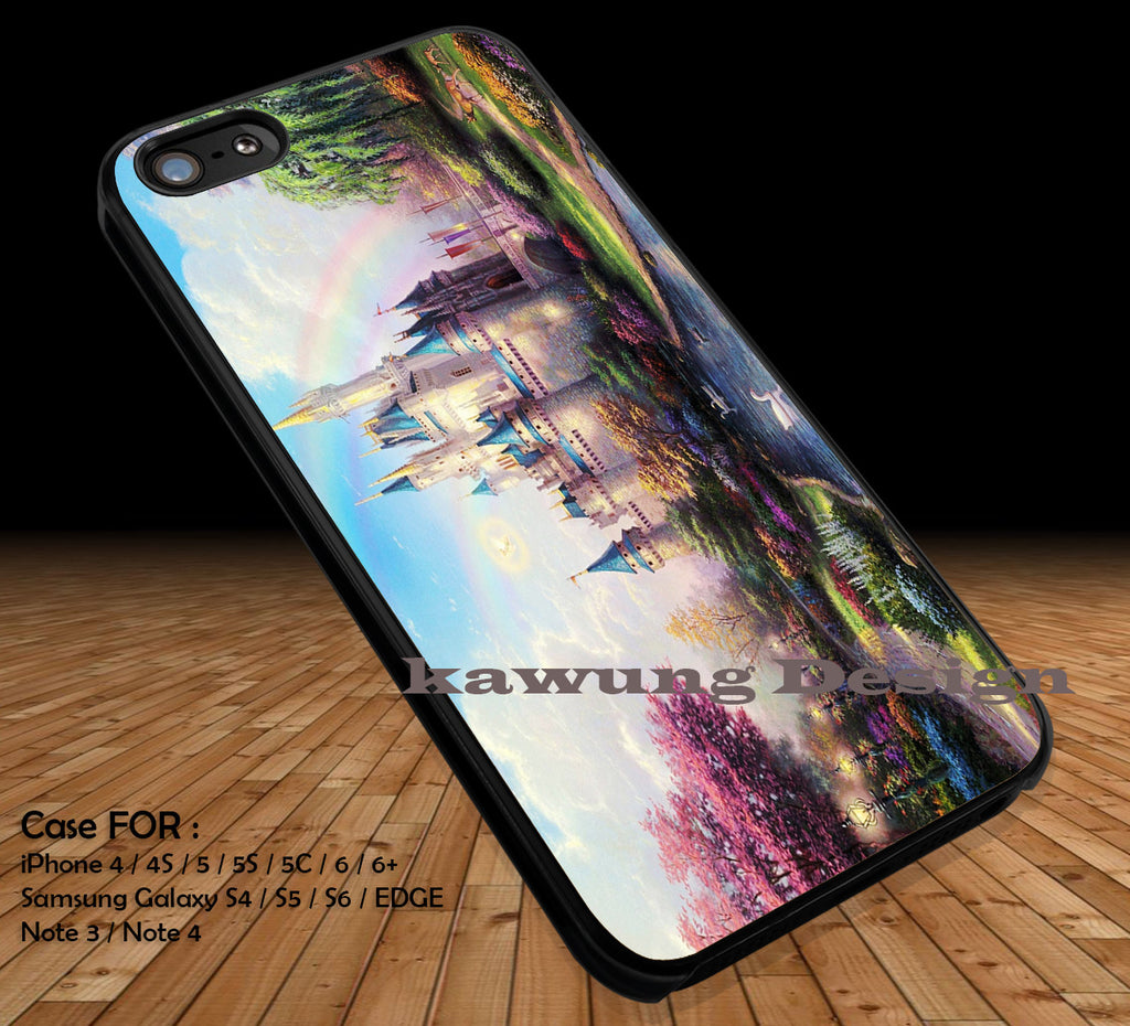 Cinderella Castle Painting iPhone 6s 6 6s+ 5c 5s Cases Samsung Galaxy s5 s6 Edge+ NOTE 5 4 3 #cartoon #animated #disney #Cinderella DOP219 - Kawung Design  - 1