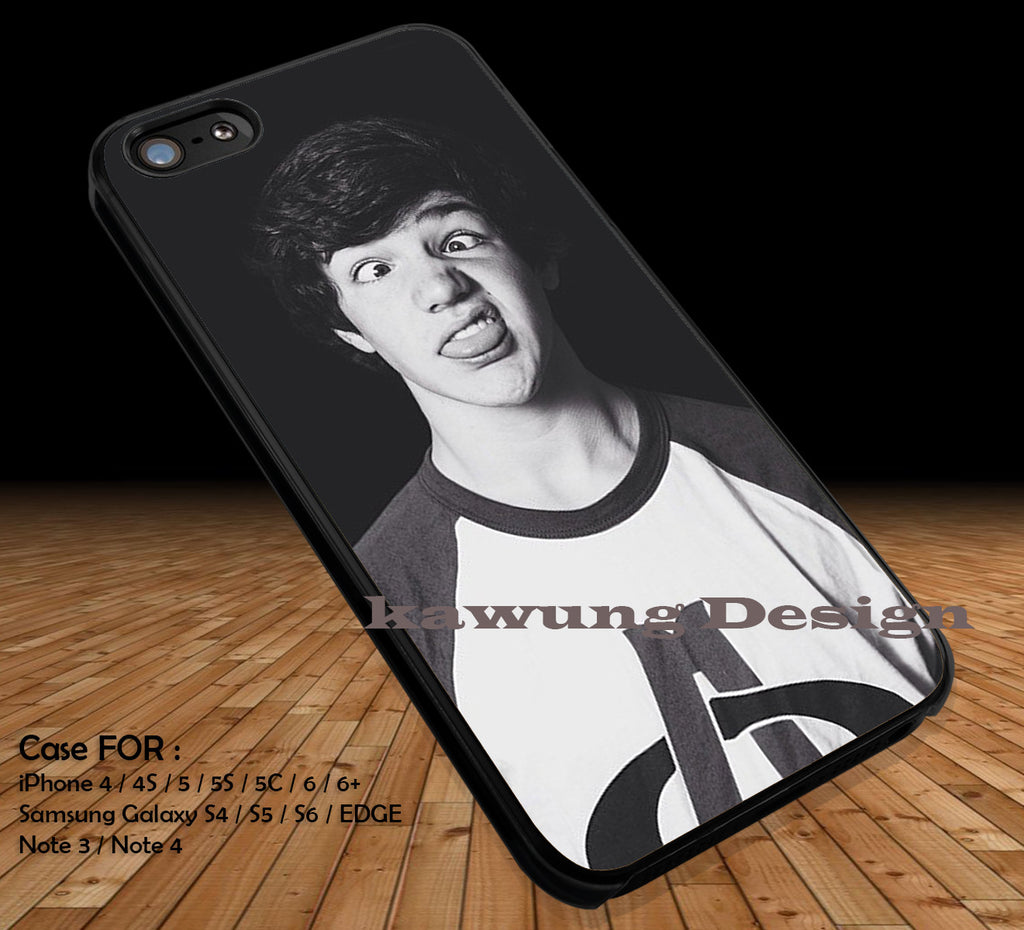 Aaron Carpenter Funny Face iPhone 6s 6 6s+ 5c 5s Cases Samsung Galaxy s5 s6 Edge+ NOTE 5 4 3 #movie #MagconBoys DOP2219 - Kawung Design  - 1