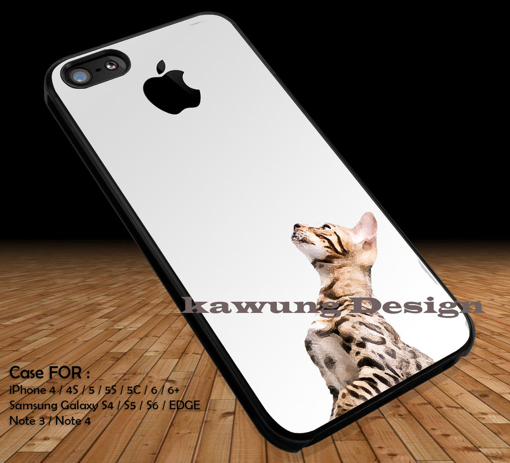 Cat Looking Up Towards Apple iPhone 6s 6 6s+ 5c 5s Cases Samsung Galaxy s5 s6 Edge+ NOTE 5 4 3 #art DOP2223 - Kawung Design  - 1
