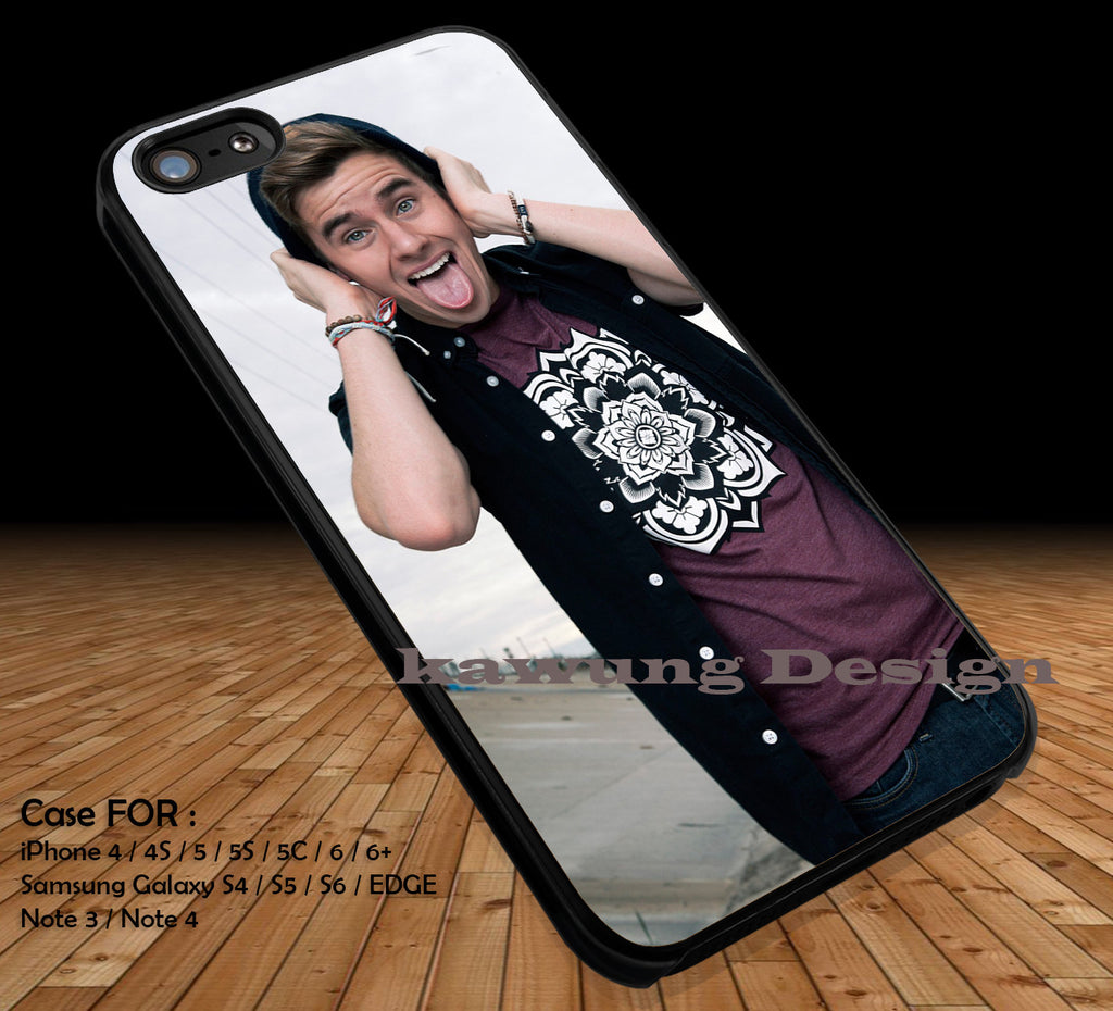 Connor Franta Funny Face iPhone 6s 6 6s+ 5c 5s Cases Samsung Galaxy s5 s6 Edge+ NOTE 5 4 3 #music #o2l DOP2233 - Kawung Design  - 1